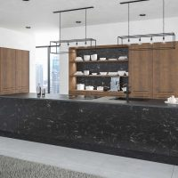 ZURFIZ_Oriental Black Gladstone Tobacco Oak Kitchen