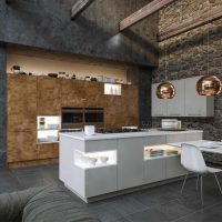 ZURFIZ_Ultragloss Copperleaf Supermatt Dust Grey Kitchen