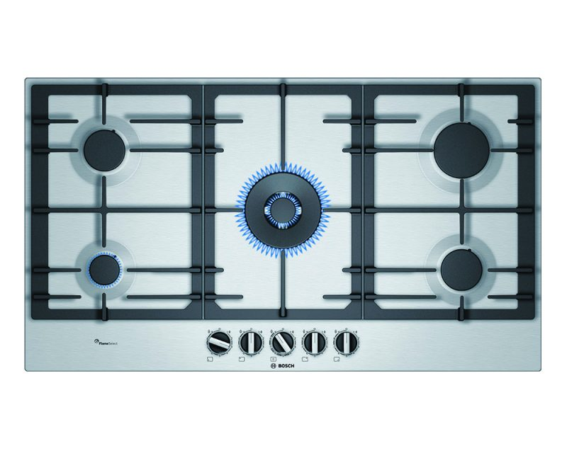 Serie | 6 Gas hob 90 cm Stainless steel