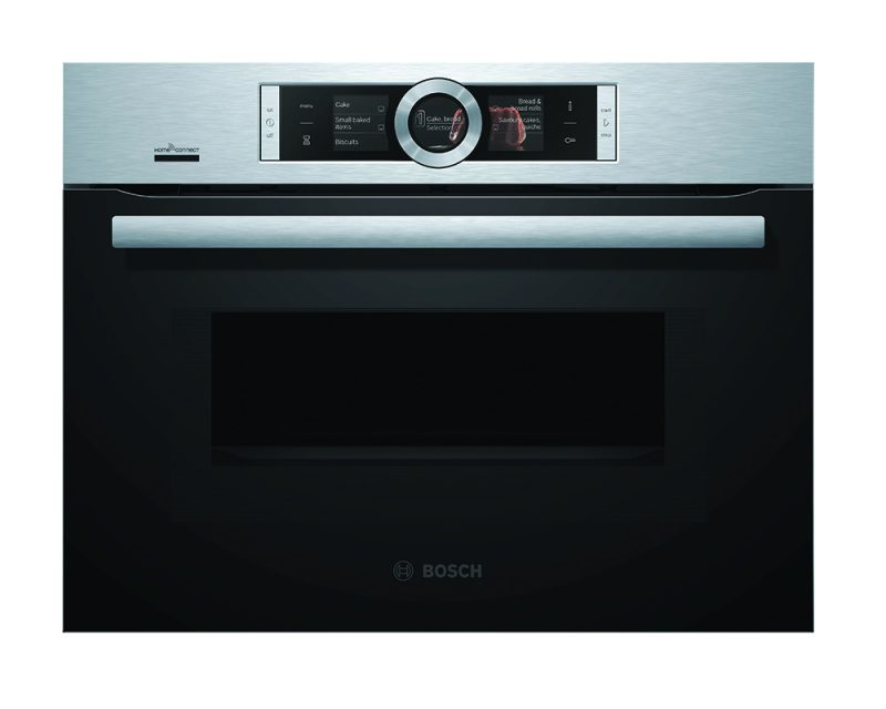 Serie | 8 Built-in compact oven with microwave function Stainless steel
