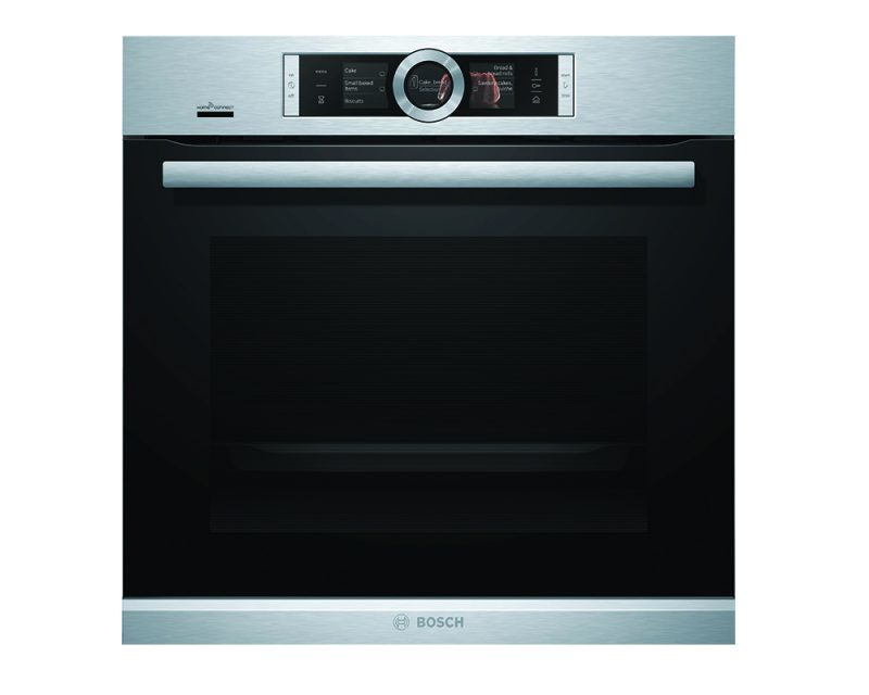 Serie | 8 Built-in oven with added steam function Stainless steel